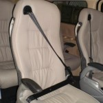 captain seats with seat belt